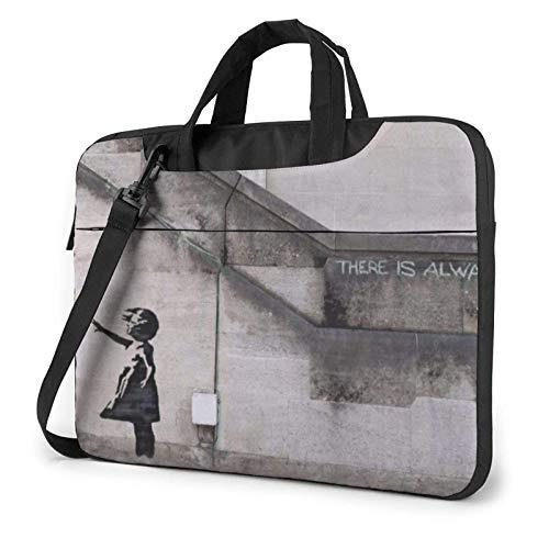 Girl with Balloons Laptop Bag Messenger Bag Briefcase Satchel Shoulder Crossbody Sling Working Bag