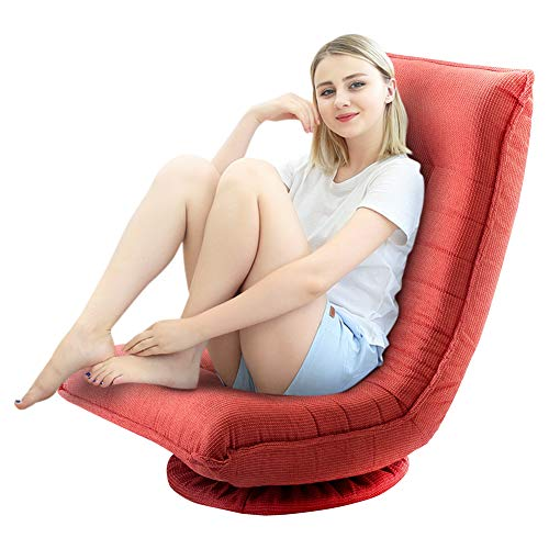 Floor Swivel Gaming Chair, 360 Degrees Adjustable Comfy Sofa Chair, Video Game Chair Rocker for Teens Adults
