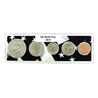 2019-5 Coin Birth Year Set in American Flag Holder Uncirculated
