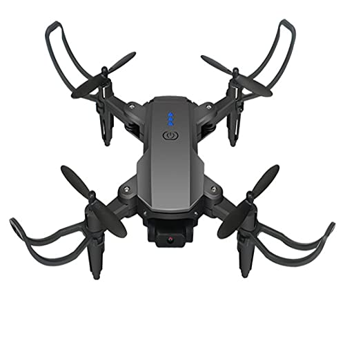 JANEFLY Dron con cámara de Ultra Alta definición 4K para Adultos, Retorno automático, cuadricóptero, sígueme, Punto de Referencia, Vuelo Circular, Flujo óptico, Modo sin Cabeza, cámaras Negras y dua