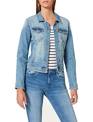 ONLY Damen Jeansjacke Tia 15177241 Light Blue Denim 42