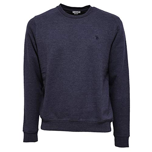 U.S. POLO ASSN. 3247AB Felpa Uomo Light Blue Cotton Sweatshirt Man [M]