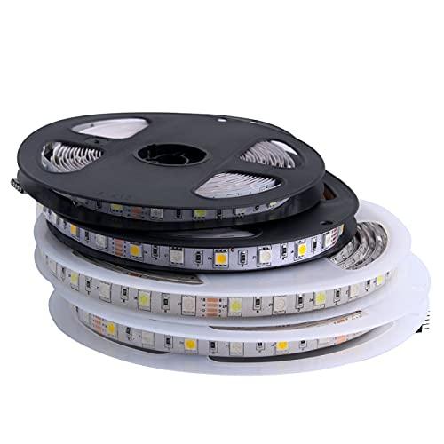 ZZSSC LED Strip RGB 5V 12V 24V SMD 5050 5M Waterproof Flexible Led Light Strip 5 12 24 V Volt Tape lamp Ribbon TV Backlight Ledstrip(IP20 No Waterproof,RGB-12V Led Strip)
