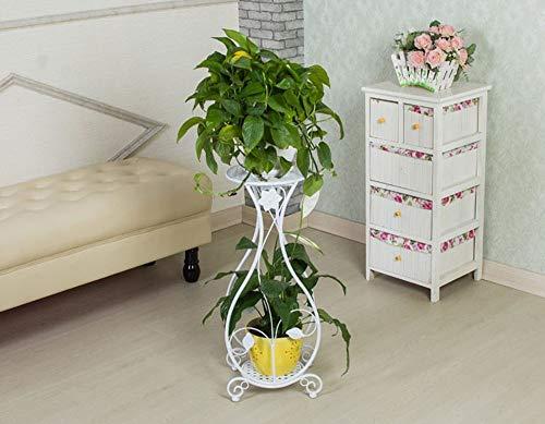zwixs Decoración/Armario/Soporte Estante de flores de hierro Tipo de piso multicapa Balcón Sala de estar Estante de flores simple de clorofito,# 1