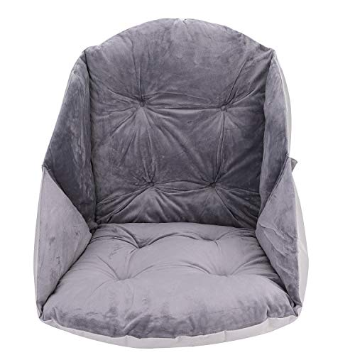 Cojín para silla de respaldo bajo, cojín suave, cojín de respaldo suave, cojín para jardín, transpirable, cojín para interior y exterior, cómodo para la cocina