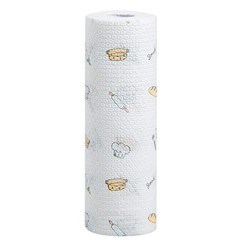 Home Einweg-Reinigung Lappen Waschtuch Küche ölabsorbierende Papier wischen Hand Handtuch Wasser waschen Geschirr wischen Tischdecke Eine Rolle verdicktes Gebackenes Brot
