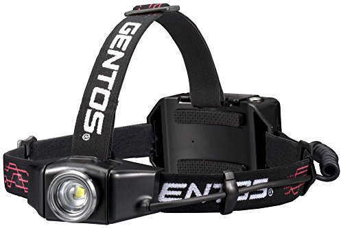 GENTOS(ジェントス) LED ヘッドライト 充電式 【明るさ500ルーメン/実用点灯12時間/耐塵/耐水】 GH-003RG A...