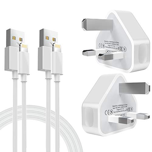 phone charging plug MFi Certified 2Pack 1M Phone Cable and 2Pack USB Plug Wall Charger for iphone 11/MAX/XS Max/XS/XRX/8/8 Plus/7/7 Plus/6/6S/6 Plus/5S/S