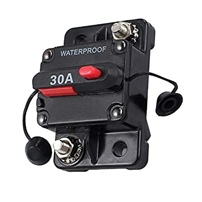 MASO 30/100 Amp Waterproof Circuit Breaker with Manual Reset Suitable for Motor Auto Car Marine Boat Bike Stereo Audio 12V-24V DC