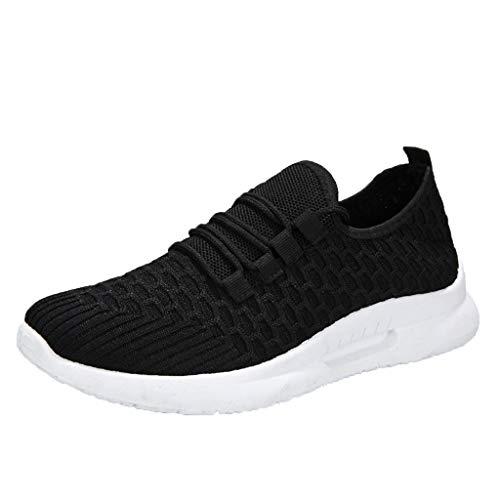 Damen Sneaker Mesh Schnürhalbschuhe Schnürung Schuhe Sportlicher Trainingsschuh Sportschuhe Laufschuhe Schnürer Turnschuhe Schnürschuhe(1-Schwarz/Black,39)