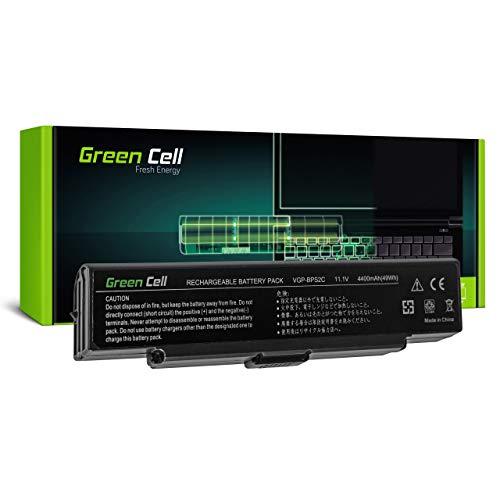 Green Cell Batería para Sony Vaio VGN-C2SR/G VGN-C2Z VGN-FE11H VGN-FE28B VGN-FE28H VGN-FE41S VGN-FE41Z VGN-FE550G VGN-FE670G VGN-FE690 VGN-FE770G Portátil (4400mAh 11.1V Negro)