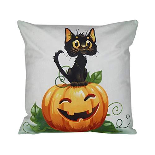 Cinnamou Mode 45 * 45 cm Halloween Taie d'oreiller Canapé Taille Jet Coussin Couverture Décor À La Maison Taie d'oreiller (L)