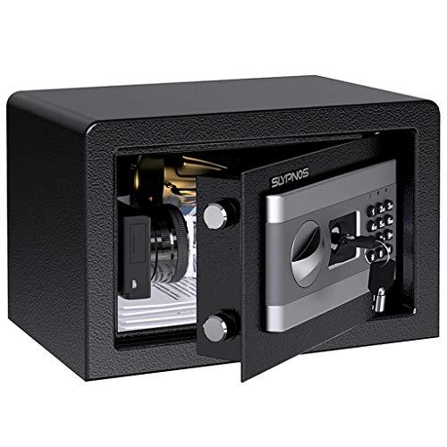 SLYPNOS - Caja Fuerte (8,5L), Caja Fuerte Convencionales de Seguridad, Caja de Seguridad (Regalo con 4 AA batterias+2 Llaves de Emergencia), Anti-Vibración Electroimán (Pequeña: 31x20x20 cm)