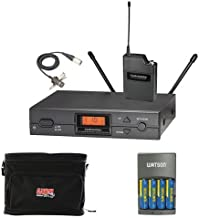 Audio-Technica ATW-2129b Wireless Lavalier Microphone System with Case and Batteries
