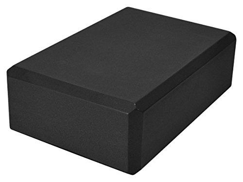 YogaAccessories 3'' Foam Yoga Block - Black