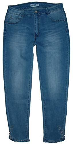m.g.fashion 7/8 dames stretch jeans broek