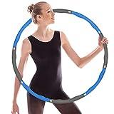 AYUNK Hula Hoop - Pneumatico per fitness, sport, casa, ufficio, addominali, 8 parti rimovibili per regolare la larghezza dell'hula hoop, adatto per adulti e bambini