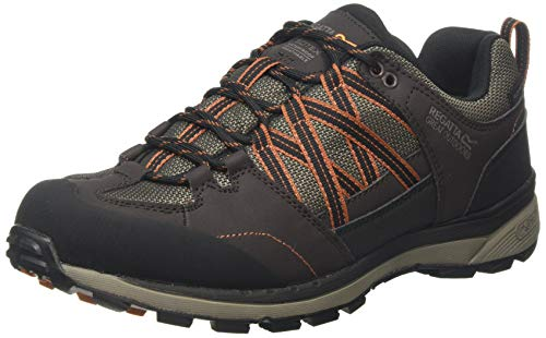 Regatta Samaris II Low' Waterproof Walking Shoes, Zapatillas de Senderismo para Hombre, Marrón (Peat/Burnt Umbre Nfd), 39 EU