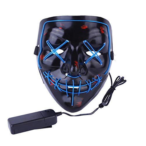 AimdonR Halloween-Maske, LED Light Purge Maske, Festival Cosplay, Halloween-Kostüm