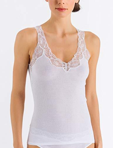 Hanro Damen Lace Delight Top Unterhemd, Weiß (White 0101), 36 (Herstellergröße: XS)