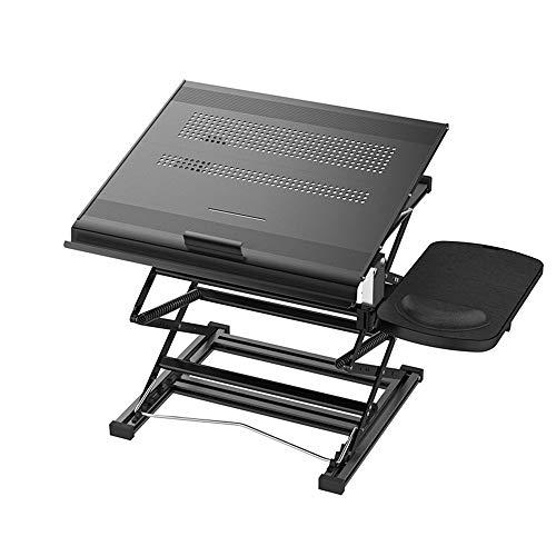 JDH Standing Laptop Desk, Stand Up Desks Height Angle Adjustable Stand Converter, Stand Desktop Workstation with Mouse Pad, Size : 40 36.58.5-78cm