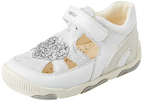 Geox Baby-Mädchen B New BALU' Girl A First Walker Shoe, White, 25 EU