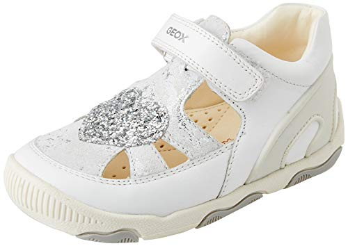 Geox B New Balu' Girl A, Sneaker Bambina, White, 26 EU