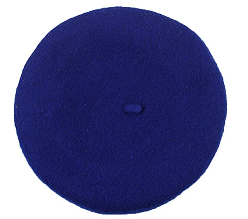 cosanter Niños Chica Mujer Gorro Vasco boina Gorro de punto Beret Cap para Primavera Otoño Invierno, color azul cobalto, tamaño M