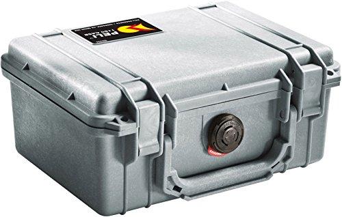 PELI 1150 Maletín estanco Profesional para Equipos frágiles como cámaras y Material Audiovisual, IP67 estanco e Impermeable al Polvo, 3L de Capacidad, Fabricado en EE.UU, sin Espuma, Color Gris