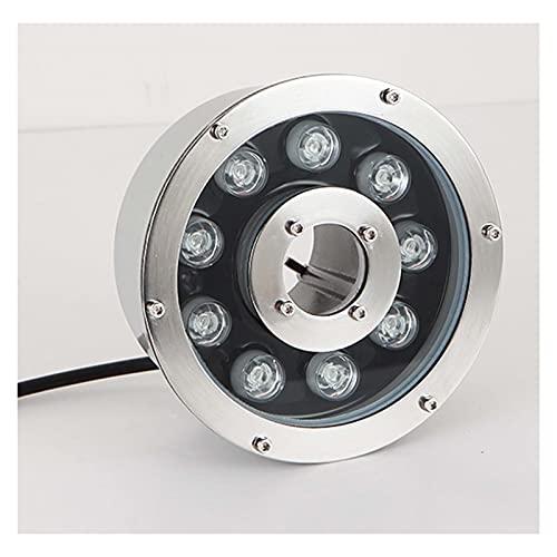 GHHZZQ Luz De Fuente De Anillo LED con Agujero Medio Cambio De Color Colorido Luz Concentrada IP68 A Prueba De Agua Estanque De Luces del Paisaje (Color : 8-RGB, Size : 18w)