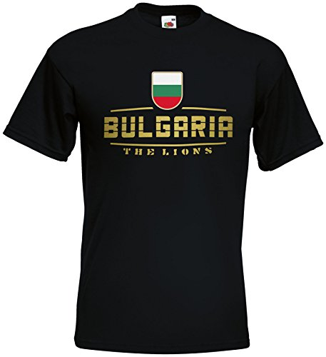 Bulgarien Bulgaria EM T-Shirt 2021 Fanshirt Schwarz S