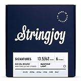 Stringjoy BAL135B Baritone Signature Nickel Electric Guitar Strings, (Balanced Light Gauge - 13.5-62)