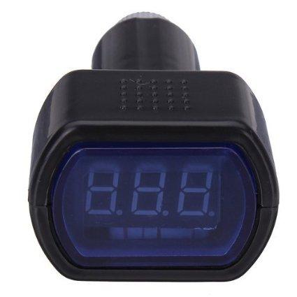 LCD Cigarette Lighter Voltage Digital Panel Meter Volt Voltmeter Monitor for Auto Car Truck