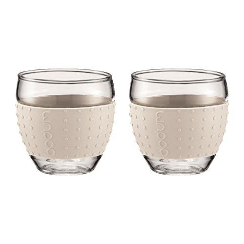 Bodum Set de Vasos térmicos, Blanco Crema, 0,1 litros