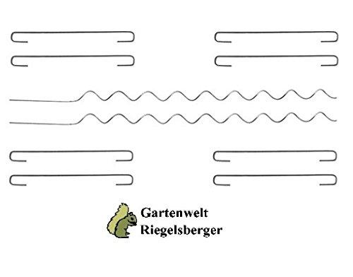 Bellissa Gabione Kit de connexion (8 crochets + 2 spirales) pour u 40 cm, mur, gabio Nen Système de jardin monde Verrou Berger