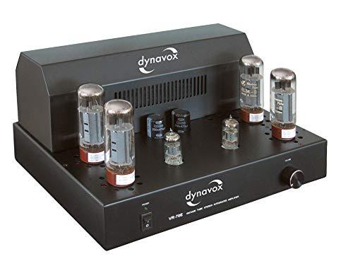 Dynavox Röhrenvollverstärker VR-70E II schwarz, HiFi-Verstärker für warmen Röhren-Sound, Vintage-Design mit abnehmbaren Schutzgitter