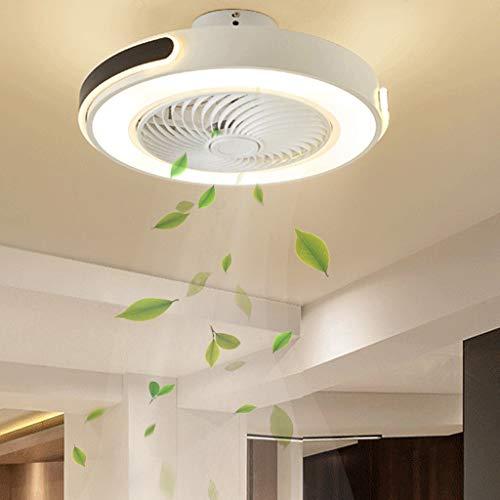 Ventilador de techo con iluminación Ventilador de techo inteligente con control remoto Interior para el hogar Iluminación circular moderna Ventilador de techo con lámpara de ventilador de luz