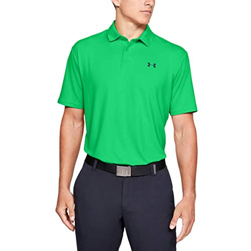 Under Armour Men's Performance 2.0 Golf Polo , Vapor Green (299)/Black , Large
