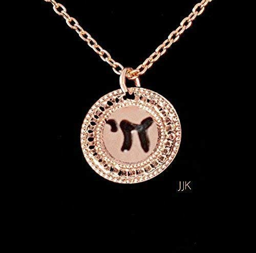 Hebrew Chai Jewelry, Rose Gold Necklace, Chai Necklace, Inspirational Jewelry, Unique Jewelry, Israel Jewelry for Women Packaged and Ready for Gift Giving, Handmade in Israel