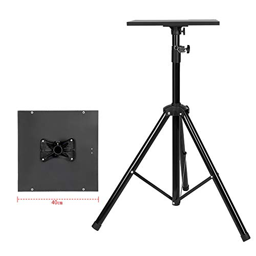 N / E Laptop Floor Stand, Lifting Projector Tray Stand, Tripod Projector Floor Stand,Adjustable Height from 90cm to 180cm,Black
