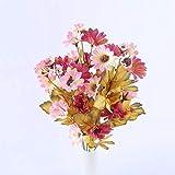 Flores Artificial 35 Cabezas Pequeñas Flores Artificiales De Seda Girasoles Mesa De Decoración De Otoño para El Hogar Otoño Gerbera Margarita Ramo De Flores Falsas Amarillas Pinkredflowers