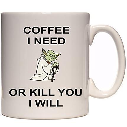 Taza de cerámica de Star Wars Yoda Coffee I need de 325 ml