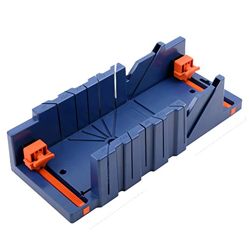 Cleey Mitre Saw Box with 45° 90° Angle Slot Types Plastic Mitre Box Saw Storage Miter Box with Saw For Woodworker Carver Carpenter S M L (Without Saw)