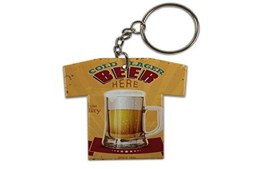 LEotiE SINCE 2004 Schlüsselanhänger Bier Retro Lager Bier Trikot bedruckt Partykeller Fun