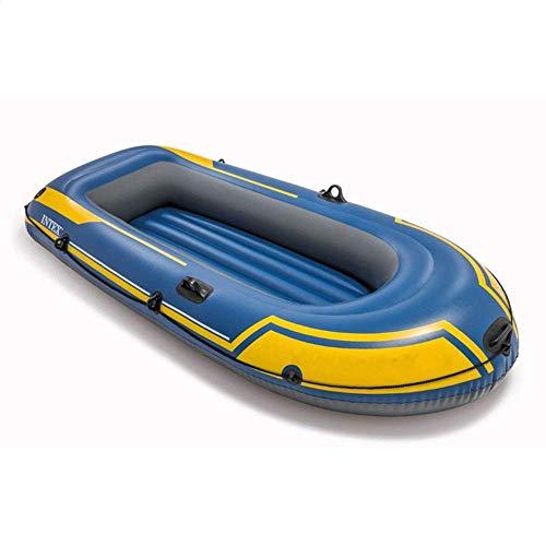 Nologo ZWJ-JJ QuRong Kayak de Ataque Pesado Deber Barco portátil de Doble Grueso Kayak Inflable Barco Ocio al Aire Libre de Vacaciones, PVC, Azul, 236 × 114 × 41cm