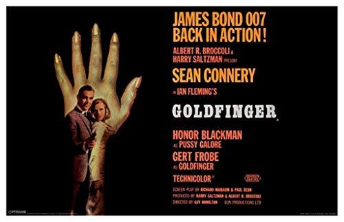 Pyramid America James Bond Goldfinger Hand Laminated Dry Erase Sign Poster 12x18