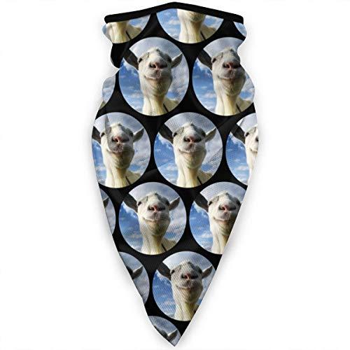 QUEMIN Juego de polaina para el cuello de cabra, máscara de sol, bufanda, banda para el sudor para la pesca, caza, senderismo, correr, montar a caballo (divertido Narwhal Dab)
