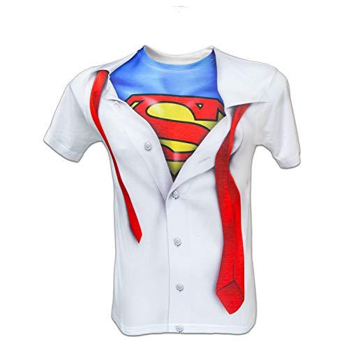 Oficial de DC Comics de Logo de Superman T-camiseta de manga corta (s-2xl) diseño de soldado de invierno de Batman de Capitán América
