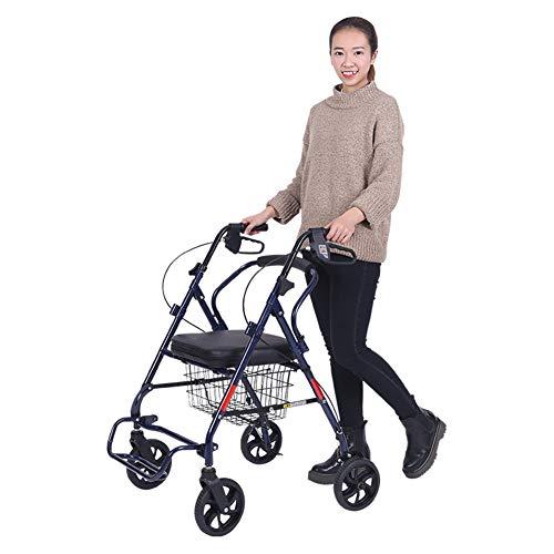 QINAIDI Andador con Movilidad para Trabajo Pesado, Peso Ligero, Andador Plegable con Andador, 264 Libras de Capacidad con Ruedas de 8'
