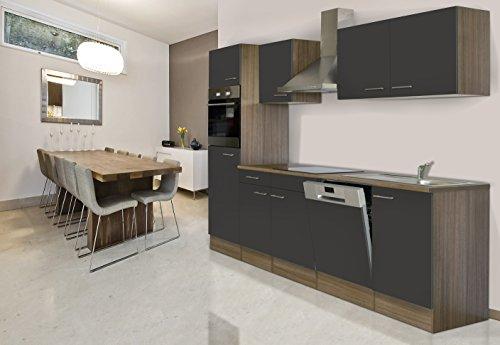 respekta Küchenleerblock Küche Leerblock Küchenzeile 280 cm Eiche York Grau